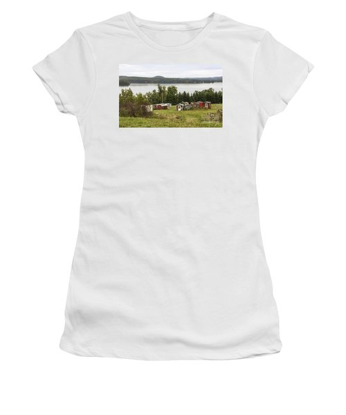 Ice Houses In Vermont Women's T-Shirt