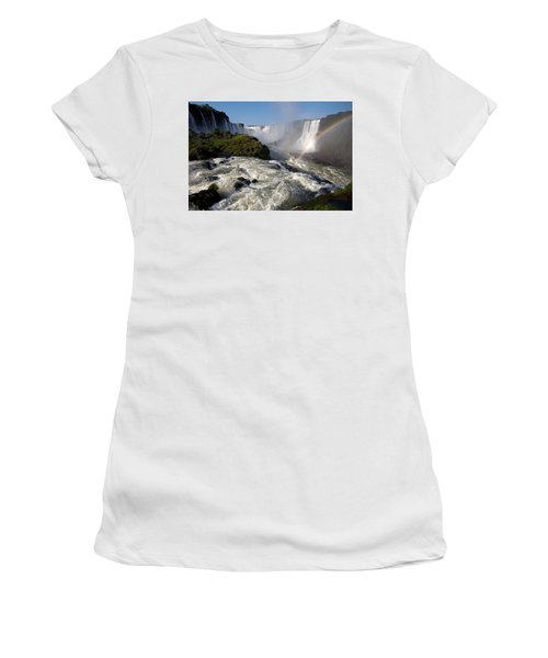 Iguassu Falls With Rainbow Women's T-Shirt