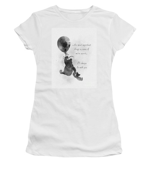 I'll Always Be With You Black And White Women's T-Shirt