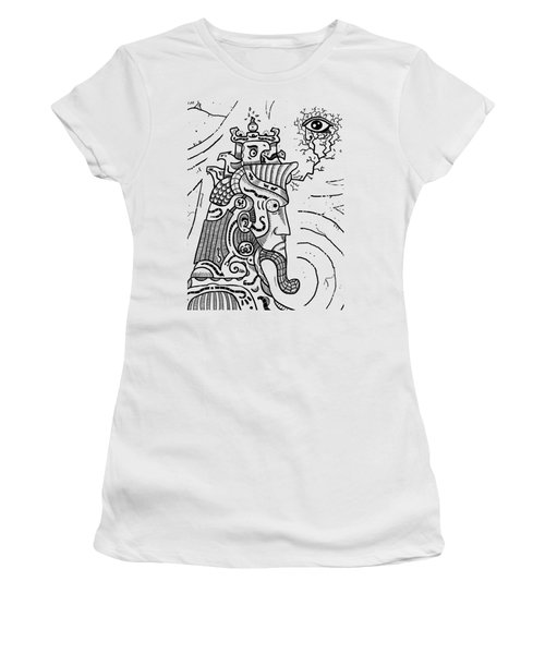 Surrealism Illuminati Black And White Women's T-Shirt (Athletic Fit)