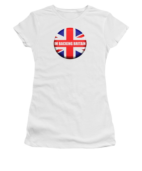 Im Backing Britain Women's T-Shirt (Athletic Fit)
