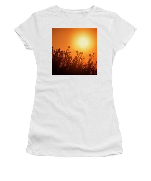 Impalila Island Sunset No. 3 Women's T-Shirt (Junior Cut) by Joe Bonita
