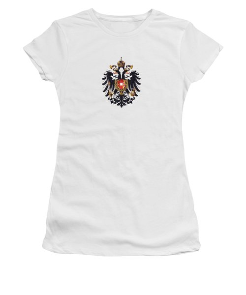 Imperial Coat Of Arms Of The Empire Of Austria-hungary 1815 Transparent Women's T-Shirt (Athletic Fit)