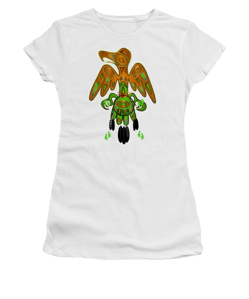 Imprint Native American Women's T-Shirt (Junior Cut) by Sharon and Renee Lozen