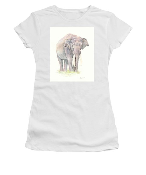 Women's T-Shirt (Junior Cut) featuring the painting In Charge by Elizabeth Lock