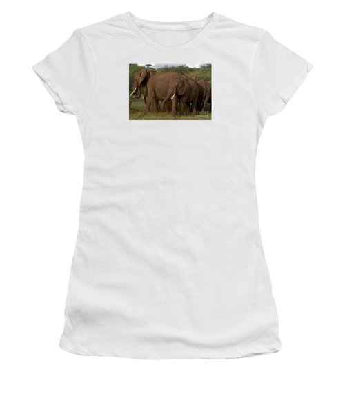 In Close For The Evening-signed Women's T-Shirt (Athletic Fit)