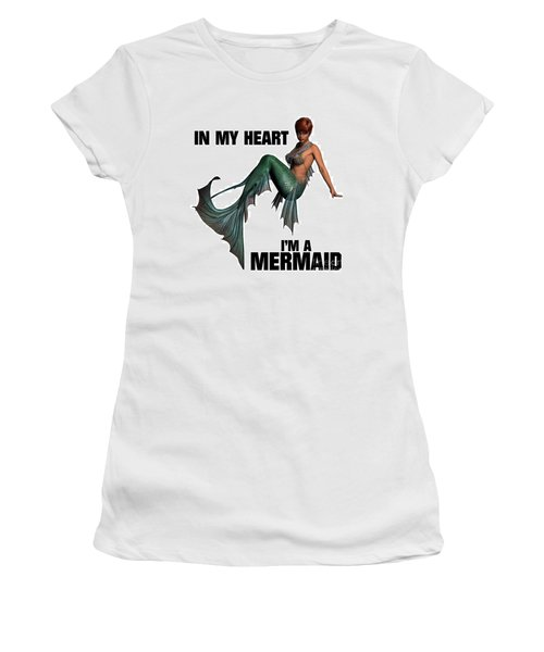 In My Heart I'm A Mermaid Women's T-Shirt (Athletic Fit)