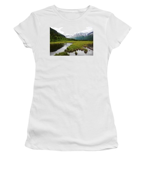 In Road To Denali Women's T-Shirt (Athletic Fit)