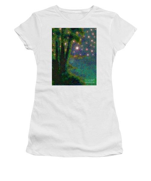 In The Beginning God... Women's T-Shirt (Junior Cut) by Hazel Holland