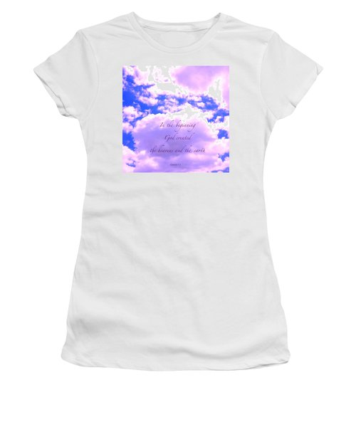 In The Beginning Women's T-Shirt (Athletic Fit)