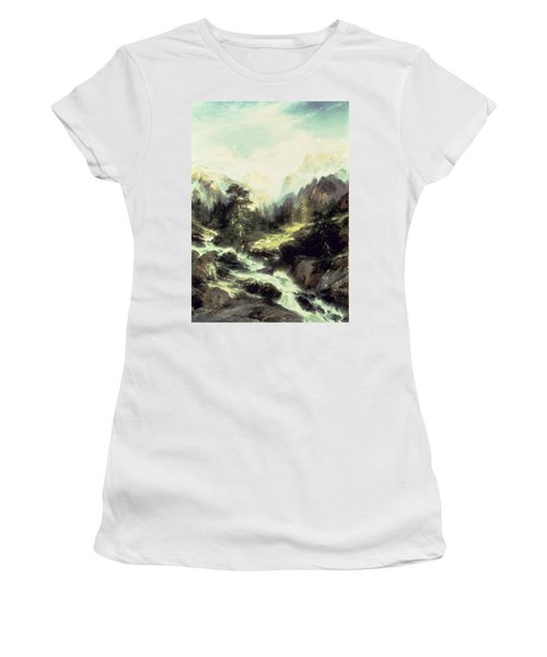 In The Teton Range Women's T-Shirt (Athletic Fit)