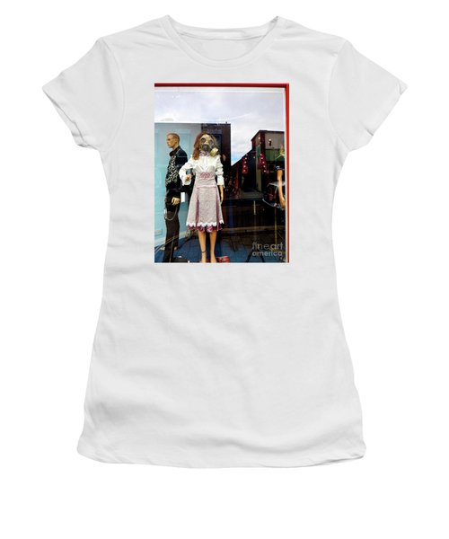 In The Window  Women's T-Shirt (Athletic Fit)