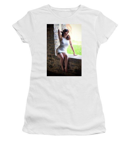 Women's T-Shirt (Athletic Fit) featuring the photograph In The Window by Rick Berk