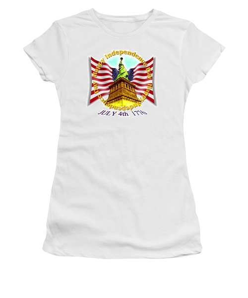 Independence Day July 4th 1776 Design Women's T-Shirt