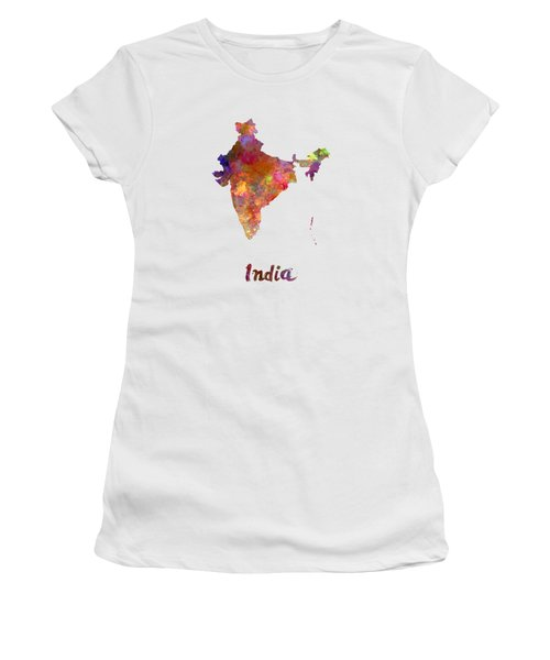 India  In Watercolor Women's T-Shirt