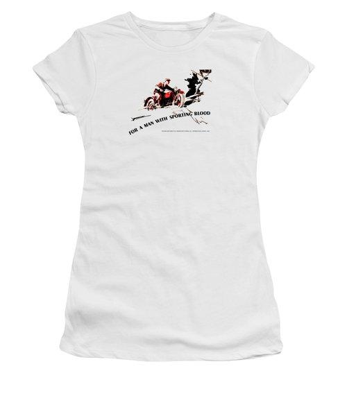 Indian Motorcycle - Sporting Blood 1930 Women's T-Shirt (Junior Cut)