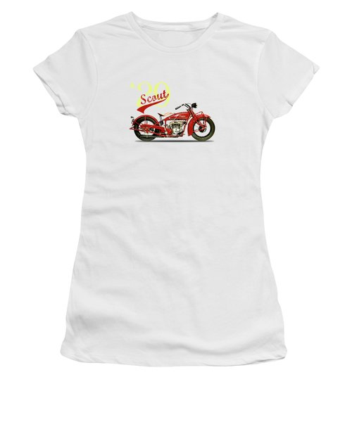 Indian Scout 101 1929 Women's T-Shirt (Junior Cut) by Mark Rogan