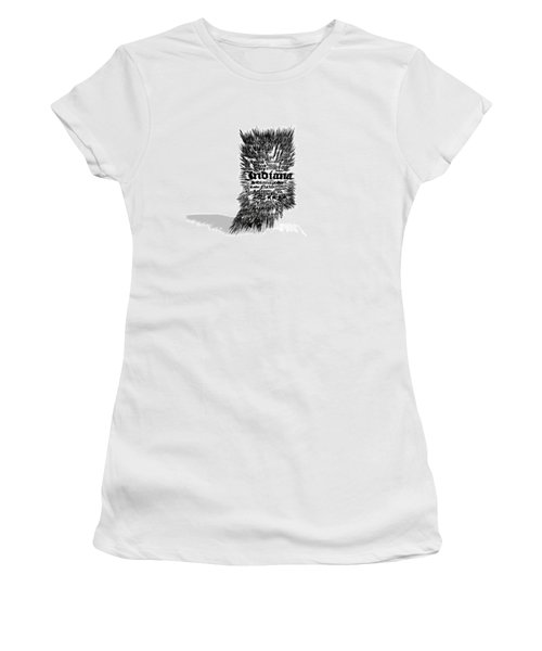 Indiana Typographic Map 5a Women's T-Shirt