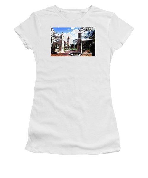 Indiana University Gates Women's T-Shirt (Athletic Fit)