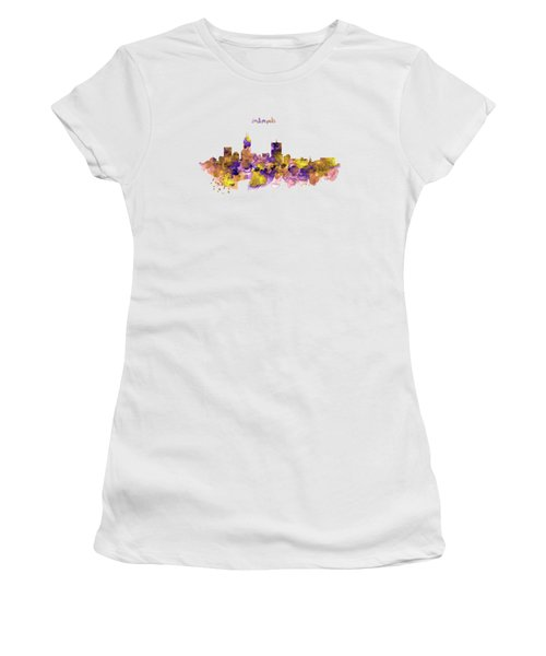 Indianapolis Skyline Silhouette Women's T-Shirt (Athletic Fit)