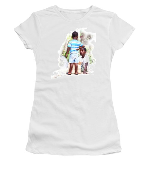 Indigenous Caribbean Kids In Panama Women's T-Shirt