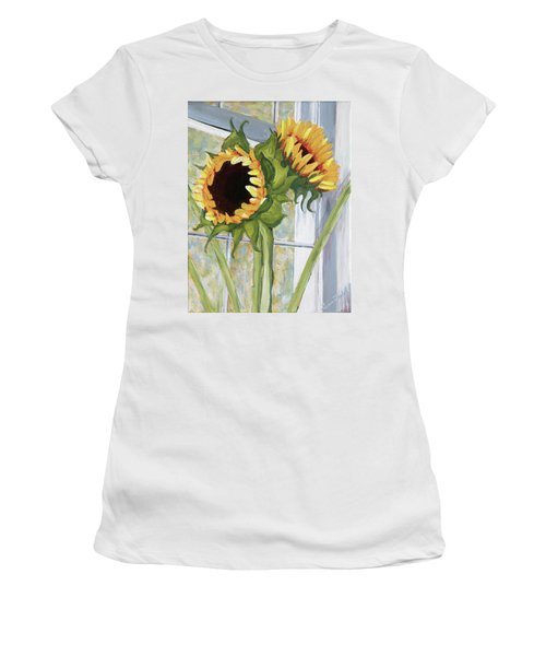 Indoor Sunflowers II Women's T-Shirt (Athletic Fit)