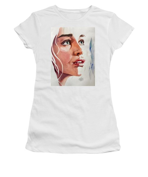 Women's T-Shirt featuring the painting Infinite Light  by Michal Madison