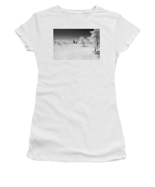 Infrared Peach Orchard Women's T-Shirt
