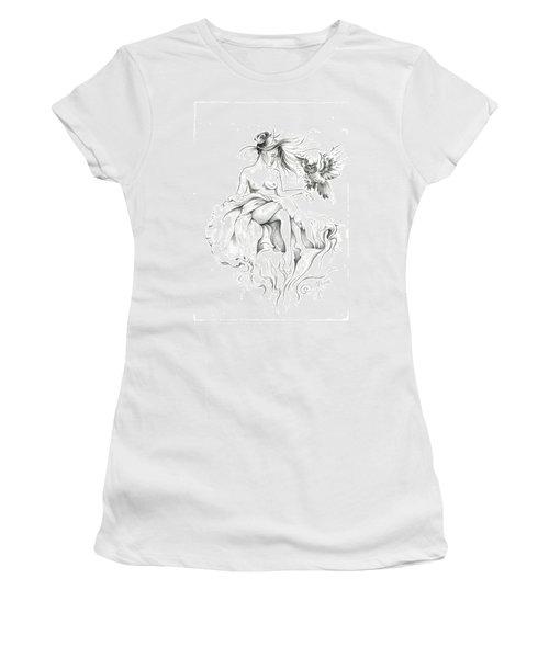Inhabitants Of The Sky Realm Women's T-Shirt (Junior Cut) by Anna Ewa Miarczynska