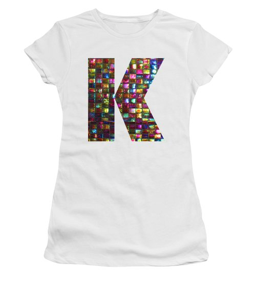 Initial Identity K Kk Kkk Alpha Alphabet Decorations Signature At By Navinjoshi From Canada At Fine Women's T-Shirt