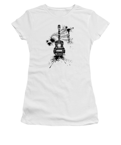 Inked Guitar Transparent Background Women's T-Shirt (Athletic Fit)