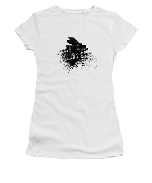 Inked Piano Women's T-Shirt (Junior Cut) by Barbara St Jean