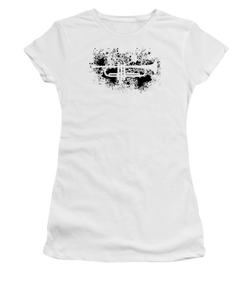 Women's T-Shirt featuring the digital art Inked Trumpet by Barbara St Jean