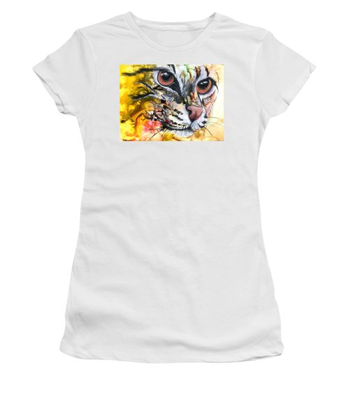 Women's T-Shirt (Junior Cut) featuring the painting Intensity by Sherry Shipley