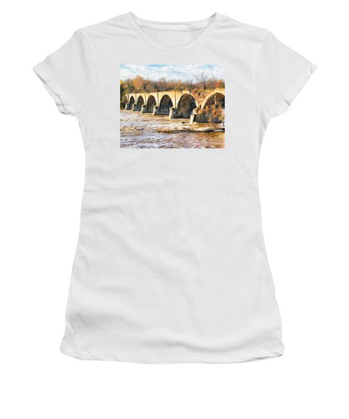 Interurban Bridge Women's T-Shirt (Athletic Fit)
