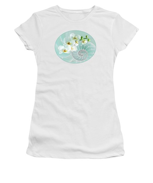 Intimate Fusion In Turquoise Women's T-Shirt
