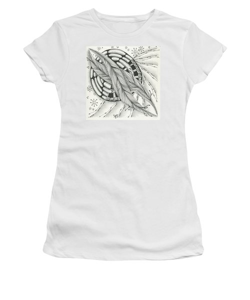 Into Orbit Women's T-Shirt (Junior Cut) by Jan Steinle