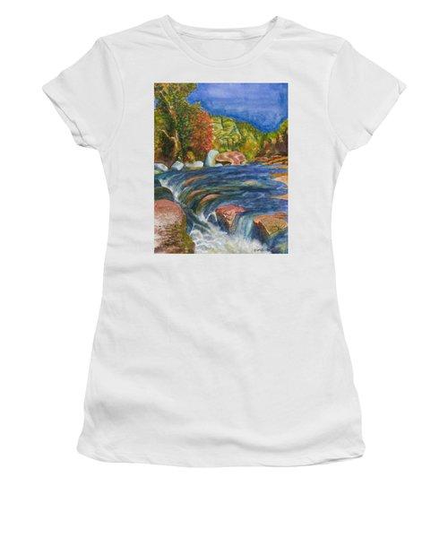Into Slide Rock Women's T-Shirt (Athletic Fit)