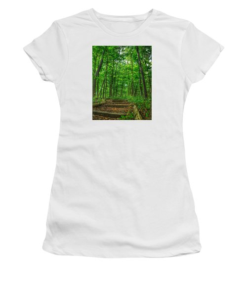 Women's T-Shirt (Junior Cut) featuring the photograph Into The Forest by Nikki McInnes
