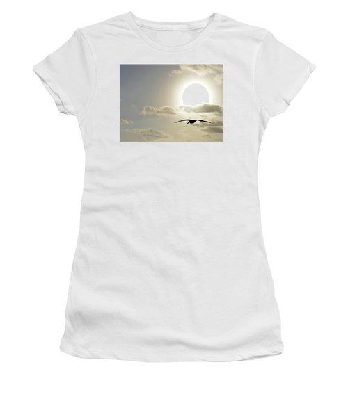 Women's T-Shirt (Junior Cut) featuring the photograph Into The Sun by Sebastien Coursol
