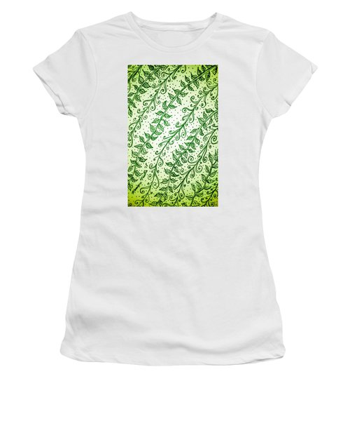 Into The Thick Of It, Green Women's T-Shirt