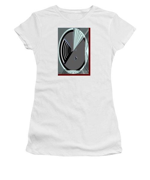 Women's T-Shirt featuring the digital art Inw_20a6469_wink by Kateri Starczewski