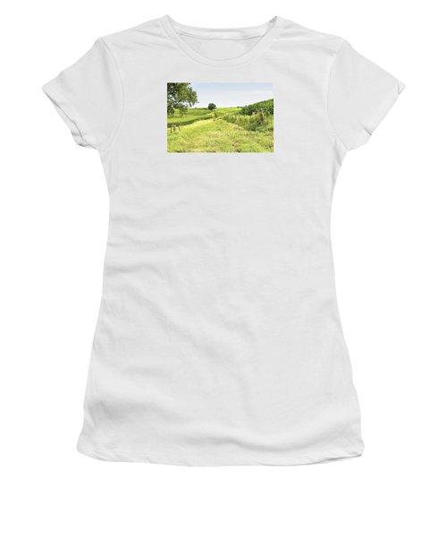 Iowa Corn Field Women's T-Shirt (Junior Cut) by Scott Hansen