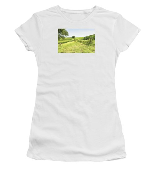 Iowa Corn Field Women's T-Shirt (Athletic Fit)