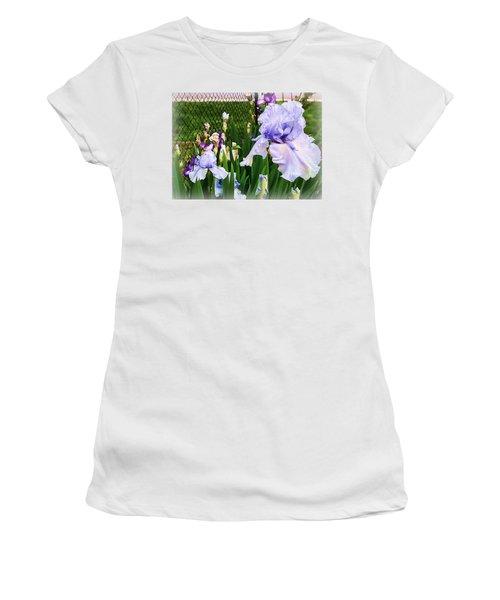 Iris At Fence Women's T-Shirt (Junior Cut)