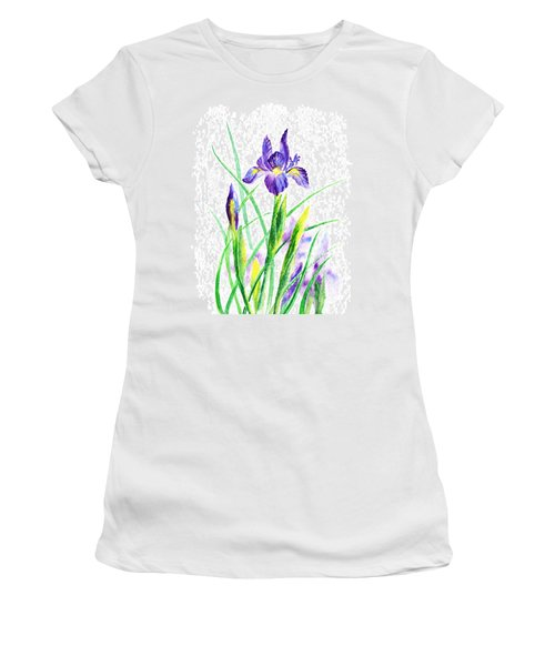 Iris Flowers Botanical  Women's T-Shirt