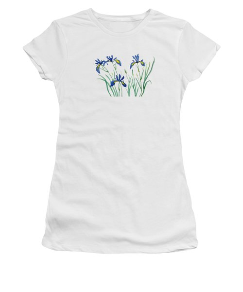 Iris In Japanese Style Women's T-Shirt (Junior Cut) by Color Color
