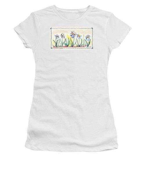Blue Iris Women's T-Shirt (Athletic Fit)