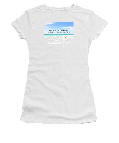 Island Breezes Women's T-Shirt (Junior Cut) by Margie Amberge