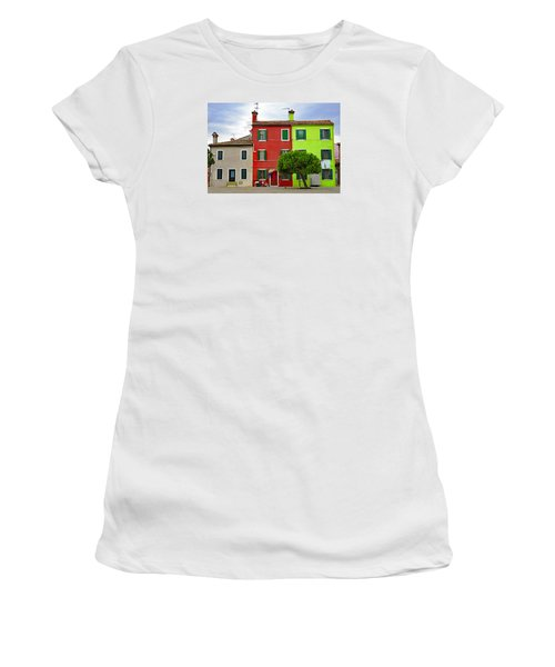 Island Of Burano Tranquility Women's T-Shirt (Athletic Fit)